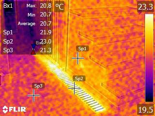 熱画像による温度状況の確認